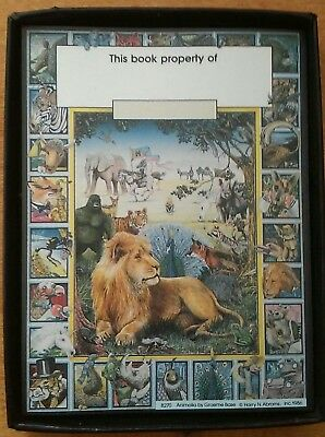 22 Animalia Bookplates Graeme Base Harry N. Abrams 1986 Ex Libris B270 Lion