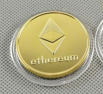 1 Pièce plaquée OR ( GOLD Plated Coin ) - Ethereum ETH