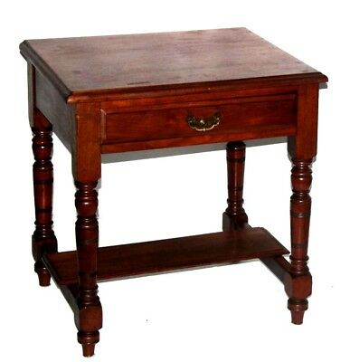 Vintage Mahogany Bedside Table with a Drawer - FREE Shipping [PL4094]