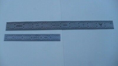 """PEC 12"""" Inch  402-012 4R & Made in USA 6"""" Inch Tempered Rule"""