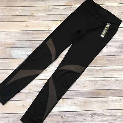 8fbd95b84f044 Athletic Mesh Cutout Leggings Workout Fitness pants Moisture Wicking S/M M/L