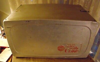 Vintage Aluminium Coca-Cola Cooler - Drink Coca Cola Things Go Better With Coke