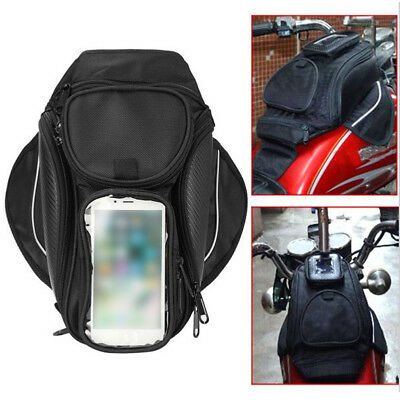 Magnetic Motorcycle Bike Saddlebag Oil Fuel Gas Tank Bag 4-Pocket Waterproof New