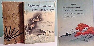 1896 Poetical Greetings from the Far East WOODBLOCK Japanese Asian ART BOOK