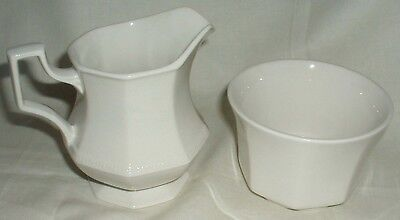 Johnson Brothers Heritage White Half Pint Milk Jug Plus Sugar Bowl