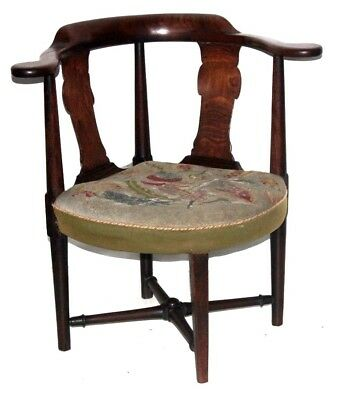 Antique Edwardian Mahogany Corner Chair - FREE Shipping [PL4095]