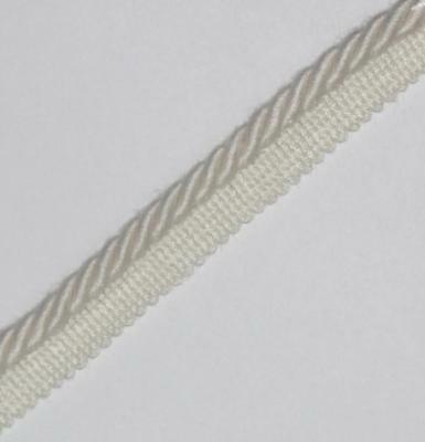 Flanged Binding/piping 8 Mm Cord,white X  2 / 4 / 5 / 10 Mtrs,- Pl-4114