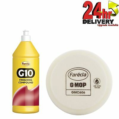 "Farecla G10 Rubbing Compound 500ml Finishing Liquid Polish + GMC606 6"" Foam Pad"