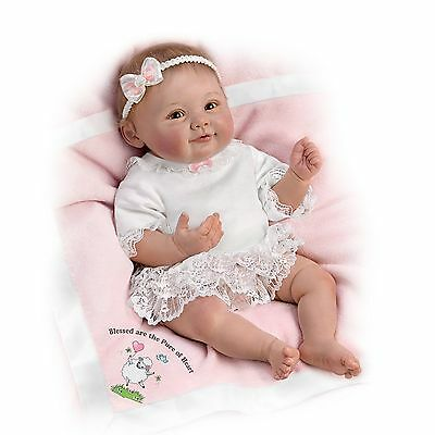 Ashton Drake Blessed Are The Pure Of Heart Realistic Baby Girl Doll by Ping Lau