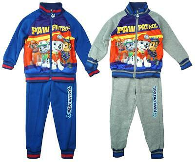 Boys Official Paw Patrol Puppy Dog Zip Jacket Tracksuit Jog Suit Set 3 - 8 Years