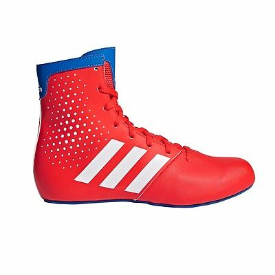 Adidas KO Legend 16.2 Boxing Boots Kids Childrens Red Blue Sports Shoes Trainers