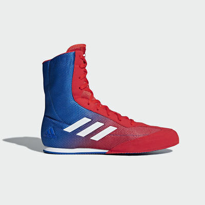 Adidas Box Hog Plus Boxing Boots Mens Blue Red Sports Shoes Trainers New