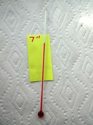 One 7 Inch Glass Replacement Thermometer Tube With Red Liquid