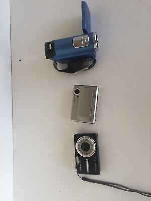 LOT of 2 Digital Cameras and 1 Camcorder