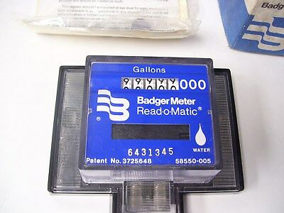Badger Remote Meter Reading Water Read-O-Matic Gallons New Old Stock Nos