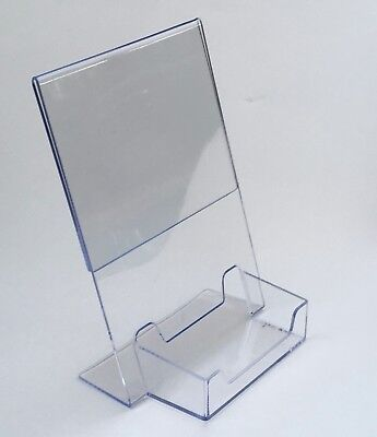 Box of 50  5 x 7 Clear Acrylic Sign Display Business Card Holders