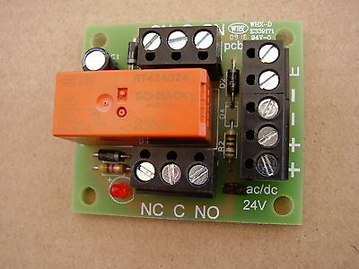 24v ac/dc Handy little Relay board ideal for security and fire alarm Systems