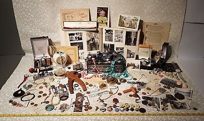 HUGE joblot 100+ antique,vintage Jewellery,Watches,9ct,military.Estate clearance
