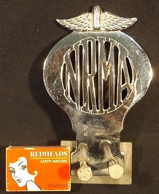 Vint Chromed Nrma Car Badge Nsw With Mounting Bracket Vg Condition Needs A Clean