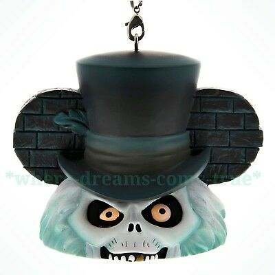 Disney Ear Hat Ornament - HATBOX GHOST from HAUNTED MANSION Light-Up (NEW)