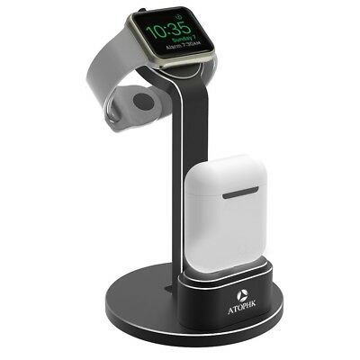 Multifunctional Portable 2 in 1 Aluminum Charger Docking Station Cradle for iWat
