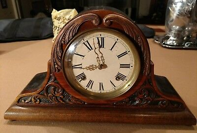 antique Sessions/Seth/Gilbert/? carved face mantle clock for restoration/ parts