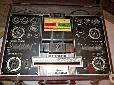 Simpson radio tube tester model No. 555