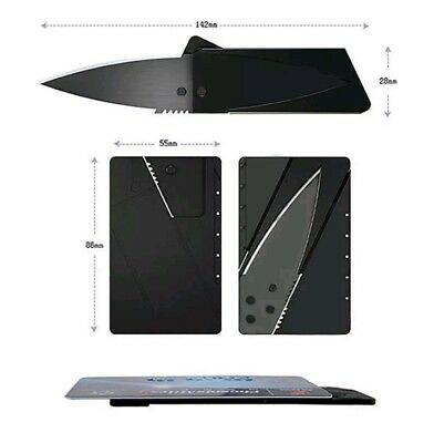 2 x Credit Card Folding Razor Sharp Wallet Knife survival tool. Get 2 for gifts.