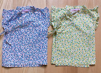 Lucky Wang Baby Girls Sweet Floral Kimono Tops (2), Flawless EUC 12 Months Twins