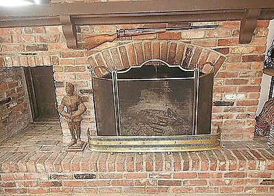 Antique Fireplace Fender Made Of Solid Brass