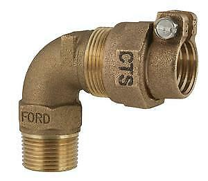 "Ford Fitting Brass 1"" CTS x 3/4 MNPT 90 Elbow Adapter Pack Joint L24-34-NL EC1"