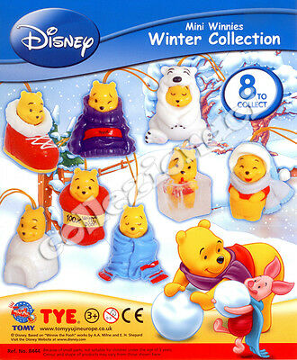Disney Mini Winnes Winter Collection Gashapon Tomy 8 Pezzi
