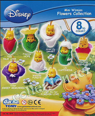 Disney Mini Winnies Flowers Collection New Tomy 8 Personaggi