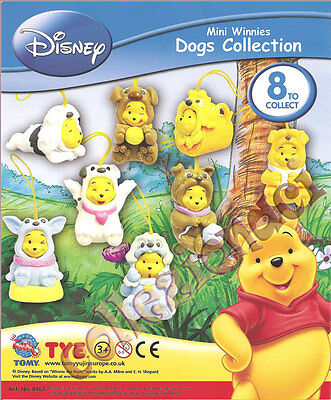 Disney Mini Winnies Dogs Collection News Tomy 2009 8 Pezzi