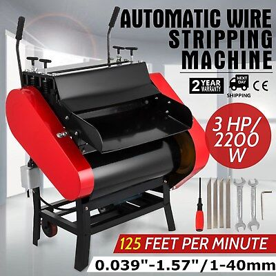 Automatic Wire Stripping Machine with Foot Pedal Cable Stripping Peeling Cutting