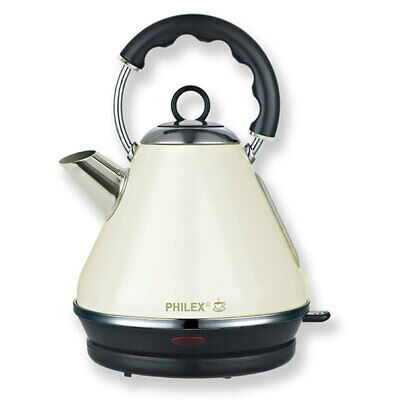Philex Off-White 2200W 1.7L Cordless Kettle Stainless Steel Water Boiler/Jug