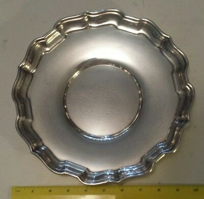 Heavy (380 Grams) Birks Sterling Silver Serving Tray 10 Inches Diameter-Polished