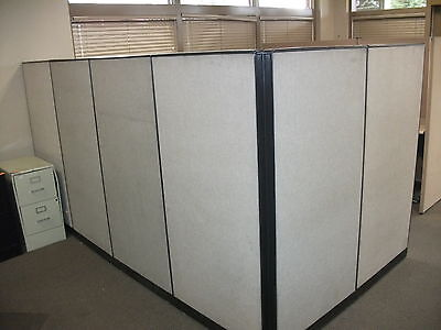Office Cubicle w/Six Partitions & Corner Desk included Modular - USED
