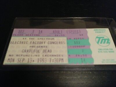Grateful Dead Ticket, Stub, Spectrum, 09/13/1993, Unused
