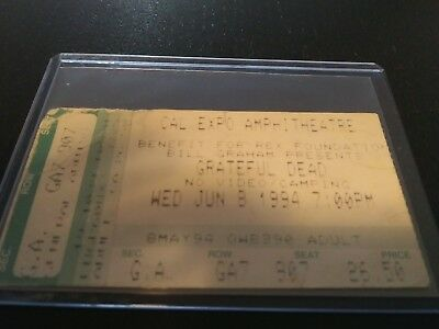 Grateful Dead Ticket Stub, Cal Expo, 06/08/1994