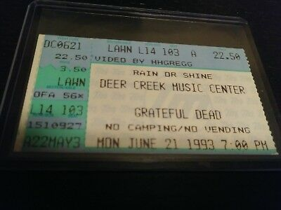 Grateful Dead Ticket Stub, Deer Creek, 06/21/1993