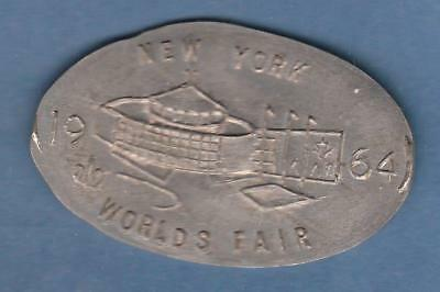 1964 New York World's Fair Elongated Nickel struck on Jefferson Nickel inv#9490