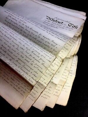 HUGE OLD DOCUMENT 1877           26 pages