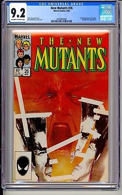 NEW MUTANTS #26  CGC 9.2 OWW Marvel Comics 4/85  1st full app Legion (X-Men) TV