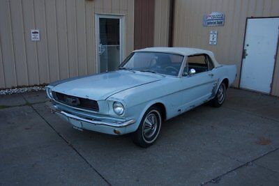 1966 Ford Mustang  1966 Mustang Convertible Running/Driving One-Owner Arcadian Blue / White Top