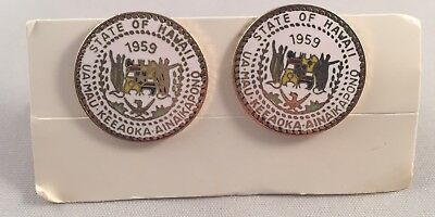 Vintage Sultan Hawaii State of Hawaii Cufflinks
