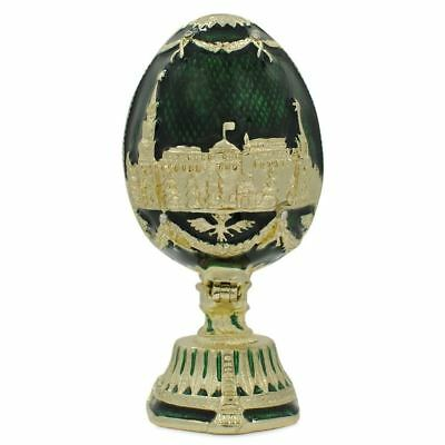 St. Petersburg Green Enamel Royal Inspired Russian Easter Egg 2.75 Inches