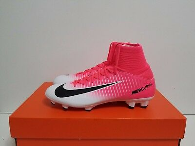 first rate 5a04c 891c8 NIKE JR MERCURIAL Superfly V Fg Kids Soccer Cleats Pink/black-White 831943  601