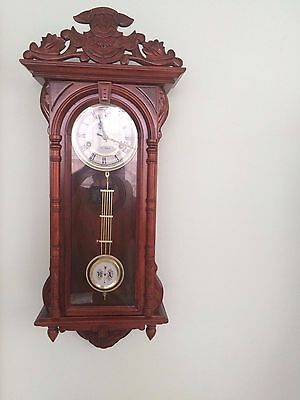 Fancy, old fashion,Wall Regulator 31 Day Running Clock, With a Bell.