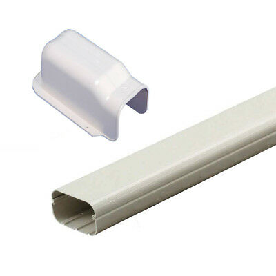 2m Long PVC Duct Pipe 100x2000mm With Wall Cover For Air Conditioner Coolroom